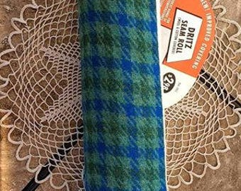 "Vintage Dritz Seam Roll with Instructions  Original Packaging Wool Cotton Cover 14"" inches long"