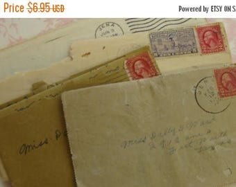 ON SALE One Antique Love Letter from Rip to Miss Dolly