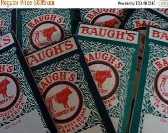 ON SALE One Vintage Baugh's Farmhouse Little Ledger Notepad