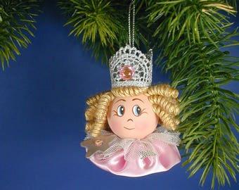 Oz Glinda Good Witch Ornament/Oz Glenda Good Witch/Princess ornament/Pink Satin Oz Good Witch