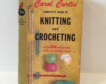 Pocket Books Complete Book of Knitting and Crocheting / 60's/ Mid Century Book