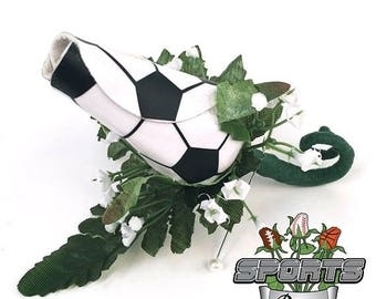 25% OFF SALE: Soccer Rose Boutonniere