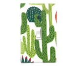 Cactus Light Switch Cover - Succulent Switch Plate - Green Cactus Nursery Decor - Southwest Decor - Cactus Outlet Covers - Double Plate
