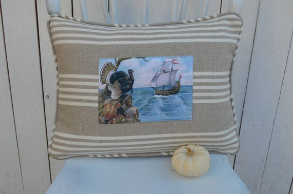 Mayflower Thanksgiving Pillow
