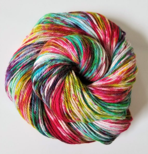 Your Crazy is Showing- 100% Organic Cotton, Hand Dyed, Bulky Weight, Speckled Yarn