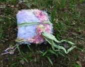 handmade needle felted wool fantasy journal - secret diary from a dream garden