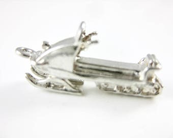Vintage Sterling Silver Snowmobile  Winter Charm