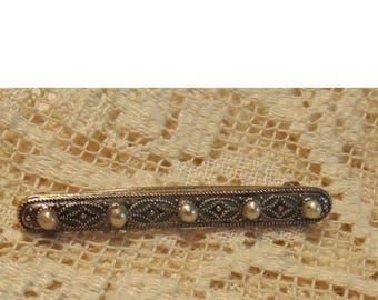 Vintage Seed Pearl Lingerie Pin - Seed Pearl Brooch - 100 Years Or Older - Bridal Shower Gift - Something Old