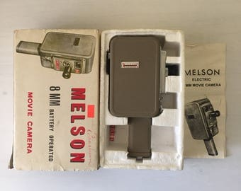 1960s Melson 8mm Movie Camera Vintage Super 8 style