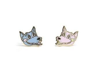 Teen Wolf Enamel Earrings