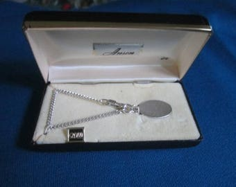 Vintage 1960s Sterling Silver Pendant for Monogramming No. 1 New Old Store Stock