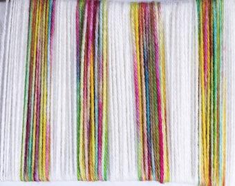 Cloudy Rainbow Self Striping - Hand dyed 4ply/sock yarn 100g/400m superwash merino, nylon blend