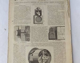1889 Scientific American Telemeter Farm Equipment Death Penalty Inventions Ads