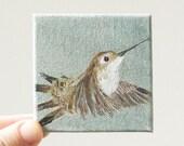 hummingbird III / original painting on canvas