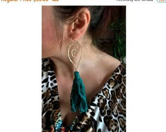 End of Summer SALE Removable tassel hoops in bronze, copper or sterling silver