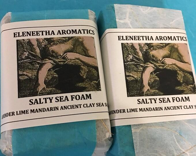 Salty Sea Foam lavender citrus seaweed clay invigoratingly rich foamy lather organic soap