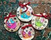 Custom Chicken Ornament - Made to Order - Chicken Ornament - Farm Ornament - Chicken Lovers Gift - Crazy Chicken Lady - Hand Painted Ornie