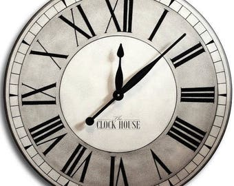 HANDPAINTED 36in OXFORD Large Wall Clock-Family Heirloom-Wedding Gift-Oversized Clock