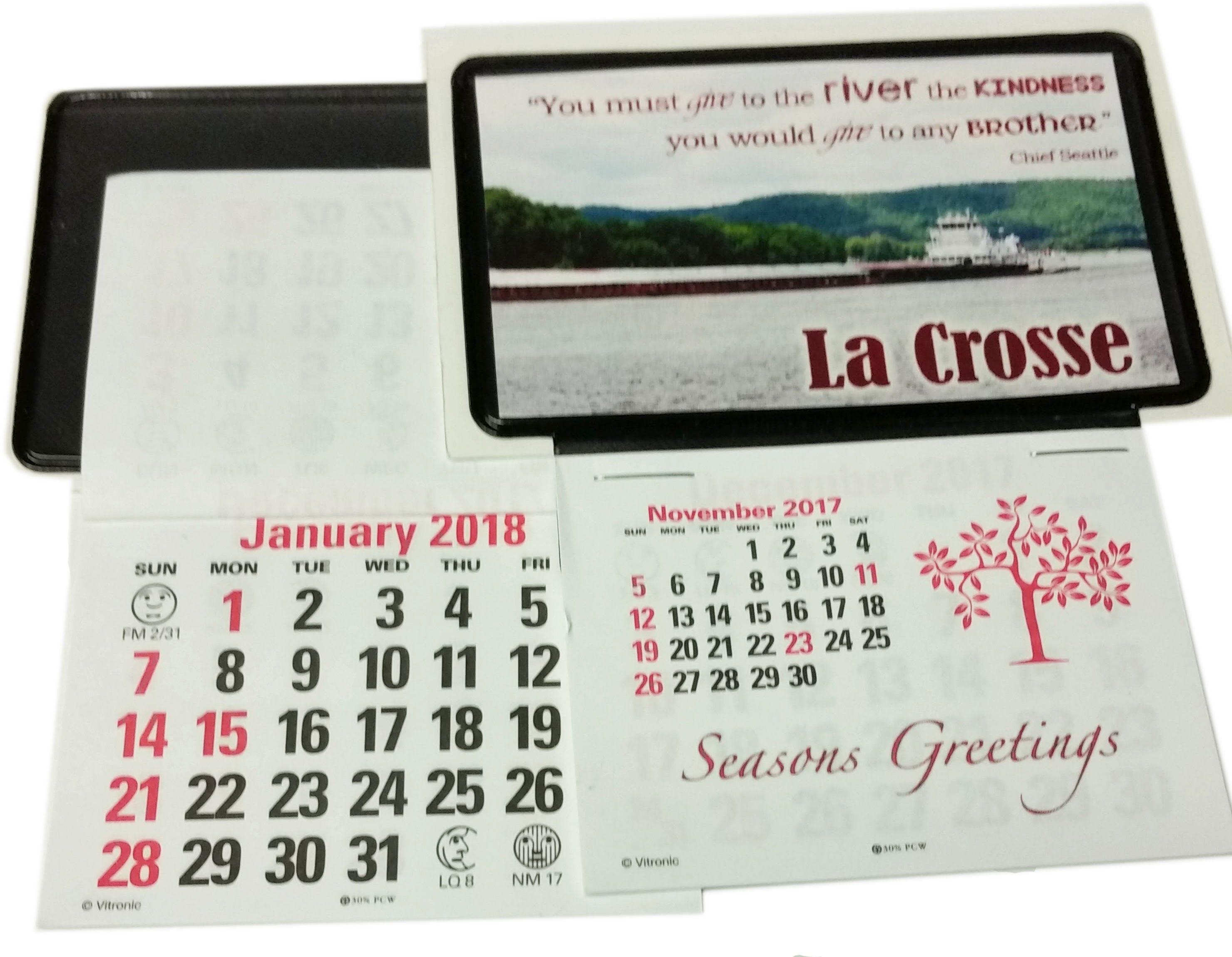 5 stick up business card calendars nov dec 2017 plus full 2018