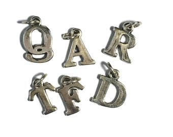 Choose Letter Sterling Silver Letter Charms Initial Charms Monogram Charms