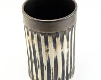 Ceramic Utensil Holder-Wide Mouth Vase-Spoon Holder-Kitchen Utensil Holder