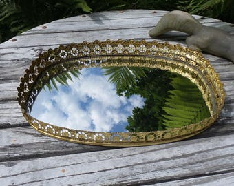 Vintage Victorian Style Antique Vanity Mirror Old World Charm