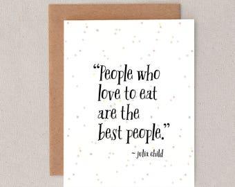 people who love to eat // greeting card // humor // skel // skel design // skel & co