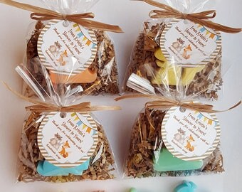 Woodland Woodlands Baby Shower Favors Forest Friends Soap (20 Complete  Favors With Tags)