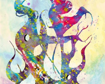 MUSIC ART ABSTRACT art print art poster melody harmony illustration art texture song opera