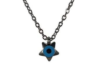 Evil eye star necklace - minimalist necklace - handmade jewelry - stainless steel  - Greek jewelry - Good luck - lucky eye - tiny jewelry