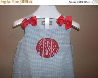 ON SALE Circle Monogram ALine Dress personalized Jumper