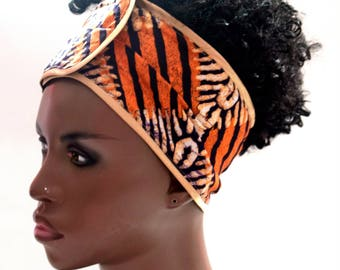 Dawta African Inspired Wrap Cap- Satin Lined-Wrapped Hair