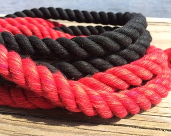 Soft Red Rope, Soft Black Rope, 32ft Length Total, (or two 16ft's available), Cotton Rope, Intimate Rope, Bondage Rope, Couples Restraint,