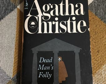 Vintage 1966 Agatha Christie Dead Man's Folly Paperback Book