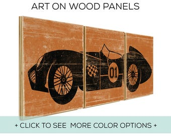 Our Classic Car Wall Art is Customizable and Perfect for Race Car Bedroom Decor - Car Design #1