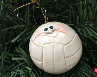 Personalized Volleyball Ornament, Volleyball
