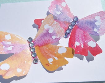 Butterfly Card - Wedding Card - Birthday Card - Butterfly Note Card - Bridal Shower card - Baby Shower Card - Friendship Card - bgcs12