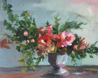 July 4th Flowers - Original Painting by Cari Humphry