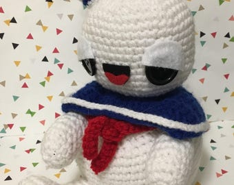 Ghostbusters - Stay Puft Marshmallow Man - Amigurumi - Plush - Horror - Ready to Ship