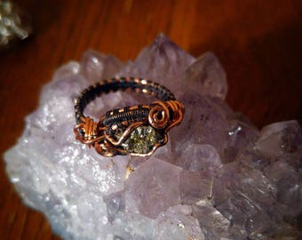 Pyrite and Copper Oxidized Ring