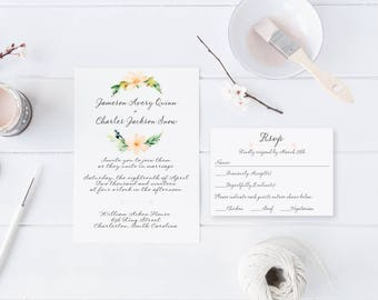 Southern Letter Handwritten Wedding Invitation