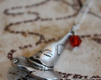 ON SALE Sorting Hat Necklace Wizard Necklace Harry Potter Inspired Hogwarts Necklace