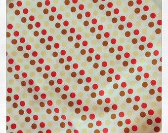 Heather Ross Dots Polka Dots Brown Red Orange Lightning Bugs & Other Mysteries Fat Quarter