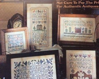 Old Samplers, Counted Cross Stitch Patterns by Leisure Arts/1991/Colored Graph/Multiple Designs