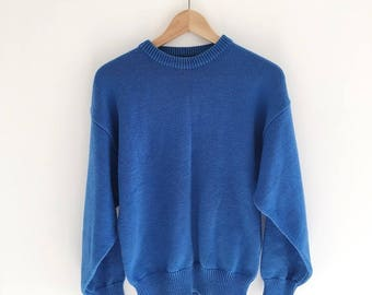 Vintage Blue Pullover Sweater Size Large