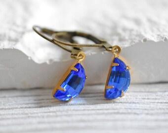 Crystal Drops - Real Vintage Earrings