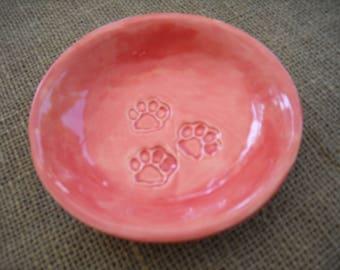 Dog Bowl Pet Bowl - Cat Dish - Pet Lover Bowl - Pet Dish - Dog Dish - Cat Bowl - Tiger Paws - Pet Gift - Cat Gift - Pet Food Bowl - Dog Gift