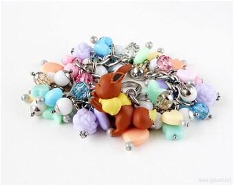 Eevee bracelet, Pokemon Jewelry, Fairy Kei Jewelry