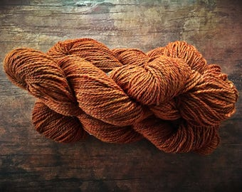 Yarn for knitting - Autumn maple, pumpkin, orange wool, Peace Fleece, worsted weight, Glasnost Gold