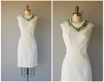 1960s Cocktail Dress | 60s Dress | 60s Cocktail Dress | Beaded 1960s Dress | 60s Party Dress | 1960s Shift - (small)